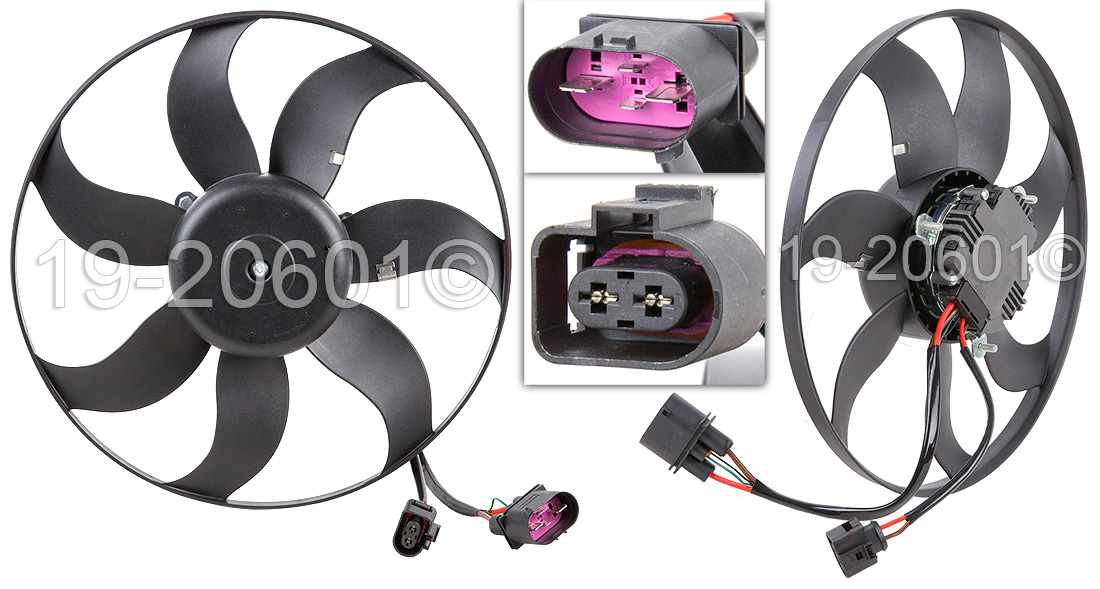 VW Eos                            Cooling Fan AssemblyCooling Fan Assembly
