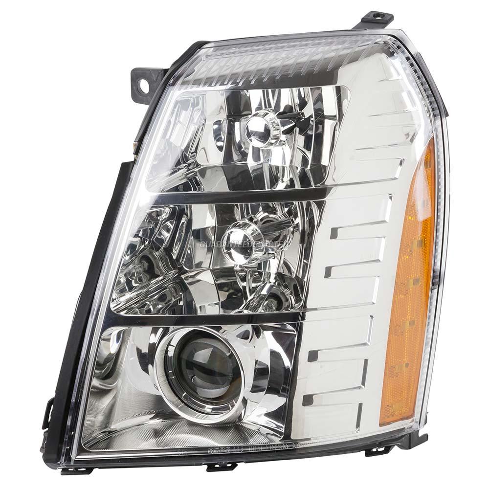 2008 Cadillac Escalade Headlight Assembly Parts From Car