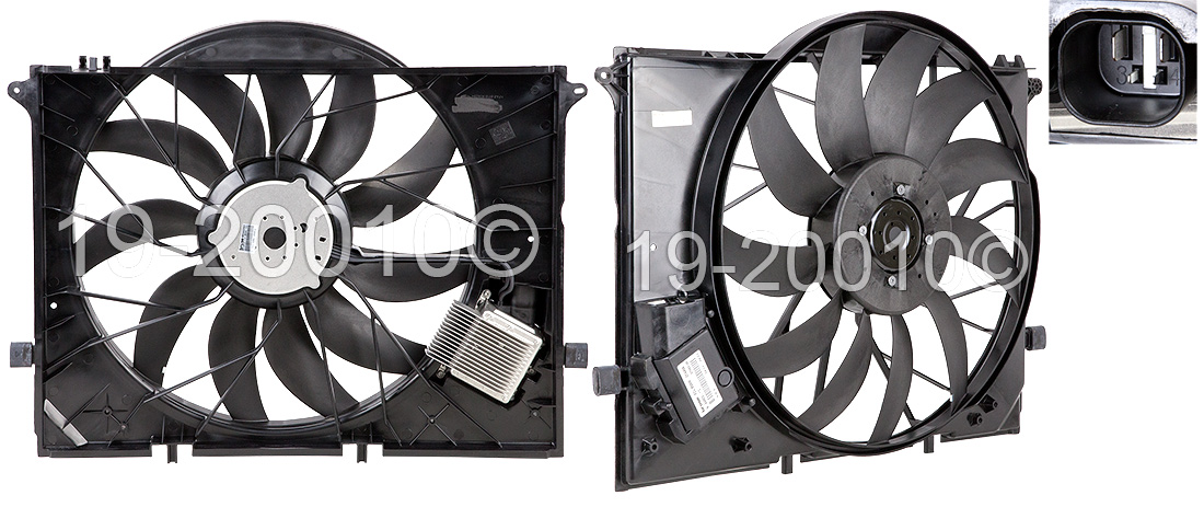 Mercedes_Benz SL600                          Cooling Fan AssemblyCooling Fan Assembly