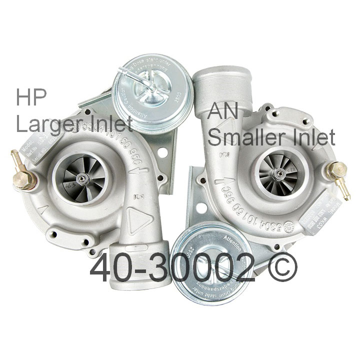 2000 Audi A4 All Models Turbocharger
