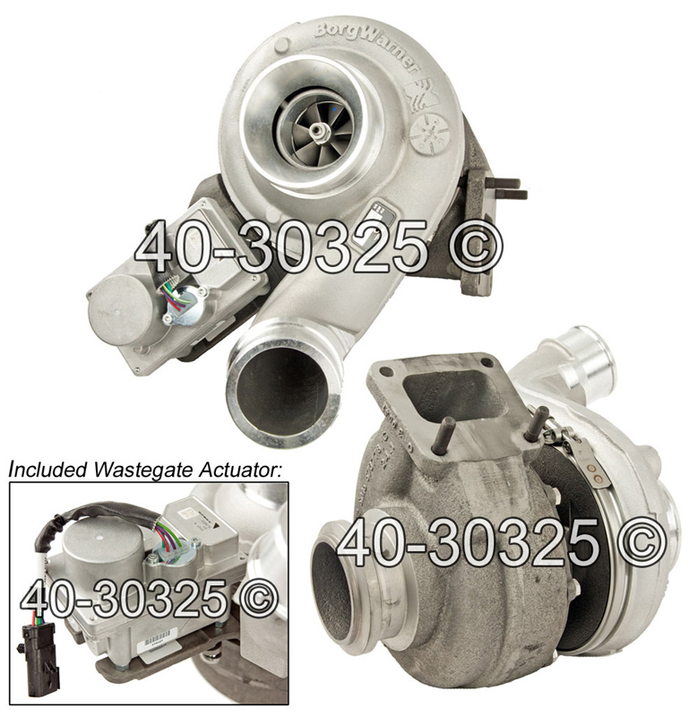 2012 International All Models Navistar DT466 Engine with International Turbocharger Number 1870931C93 Turbocharger