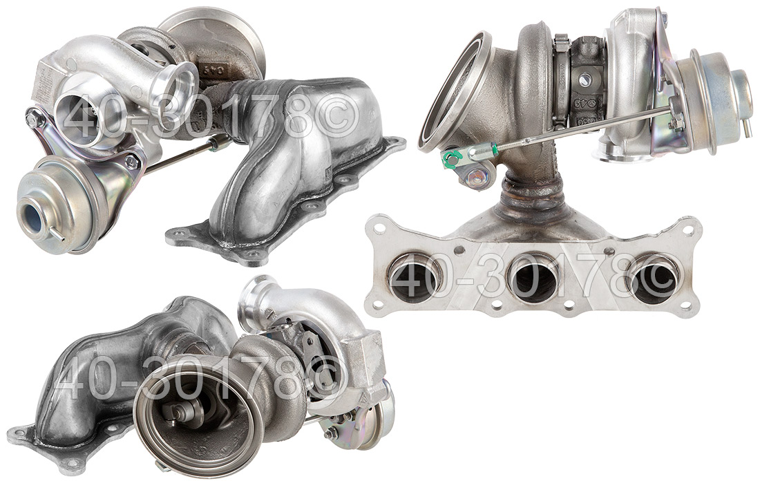 2009 BMW 535 535i xDrive Models - Front Turbocharger [Cylinders 1 Through 3] Turbocharger