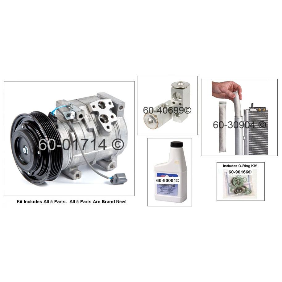 new ac compressor  u0026 clutch with complete a  c repair kit