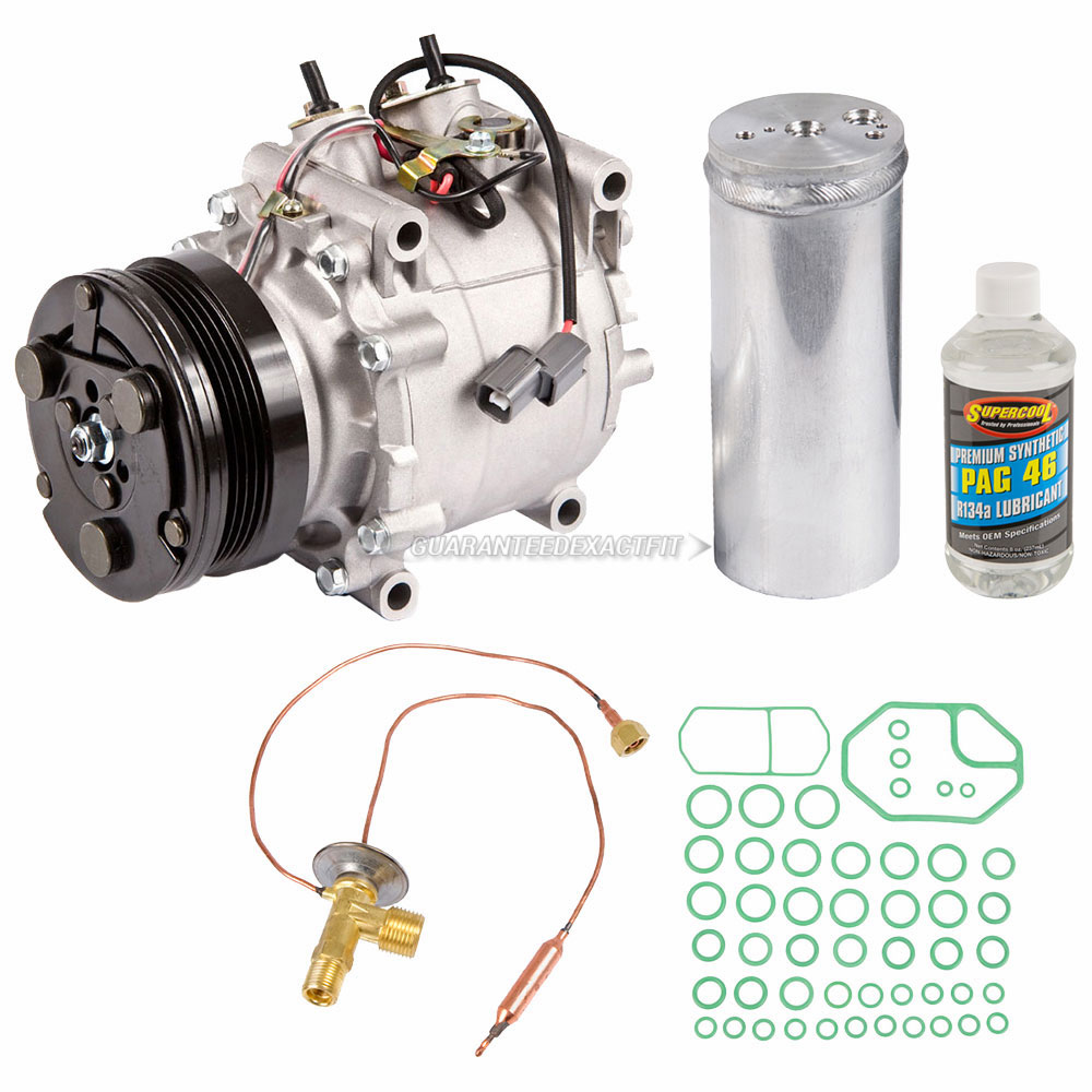 A//C Compressor /& Component Kit-Compressor//Drier//Expansion Valve//Rapid Seal//Oil