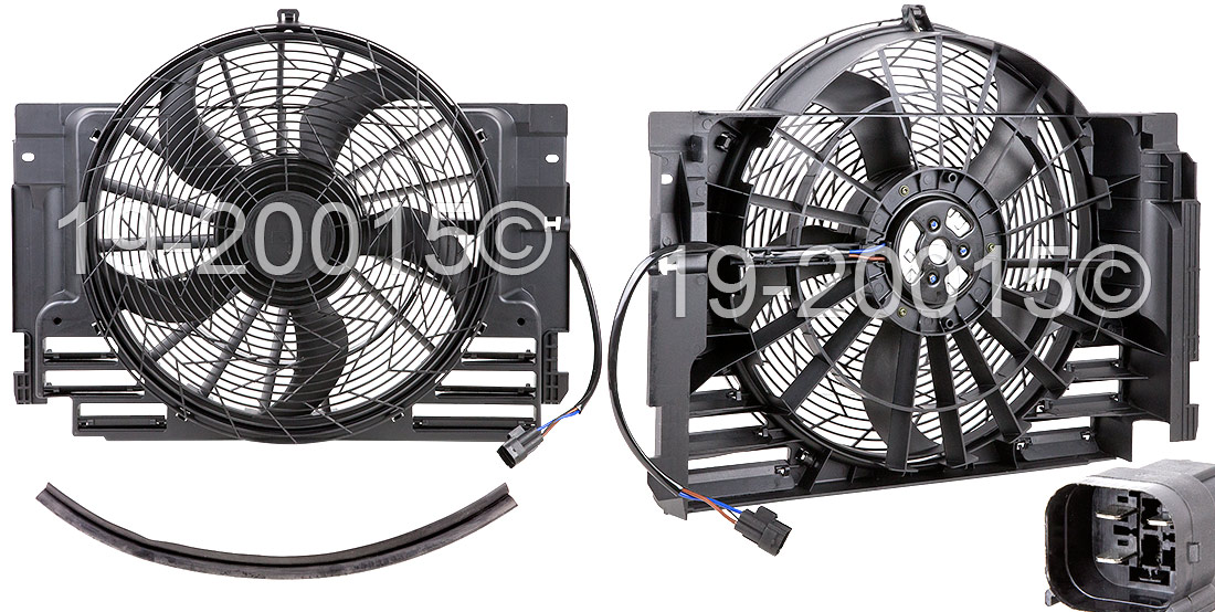 BMW X5                             Cooling Fan AssemblyCooling Fan Assembly