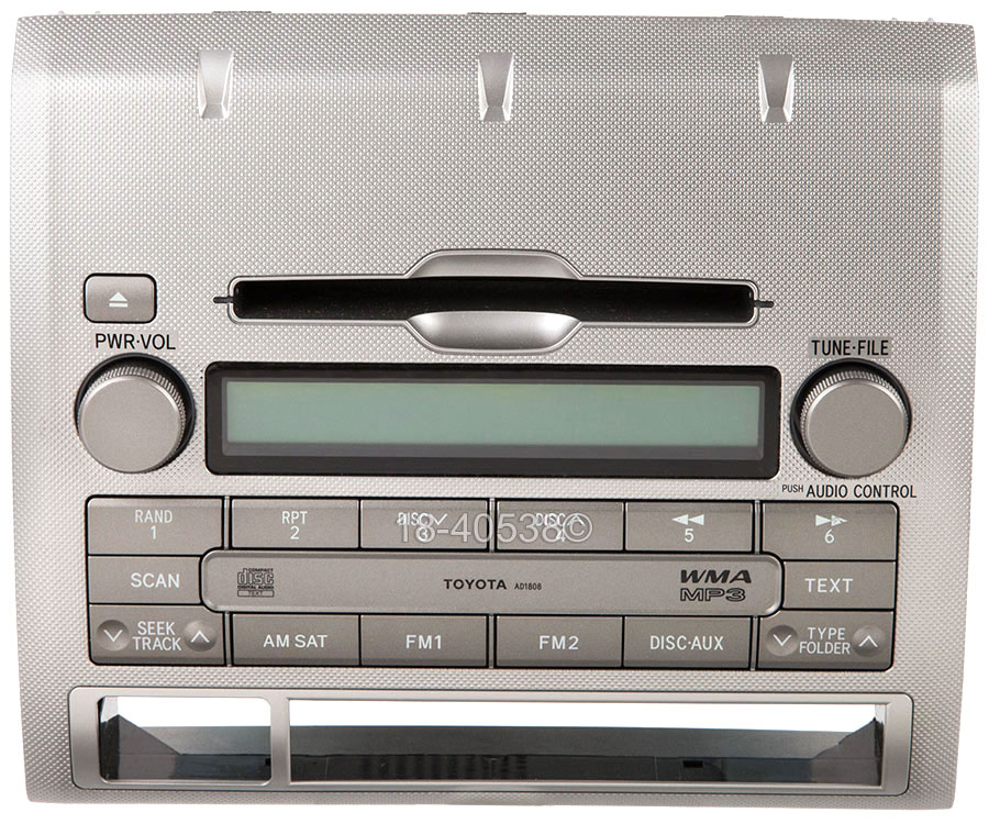Toyota Tacoma                         Radio or CD PlayerRadio or CD Player