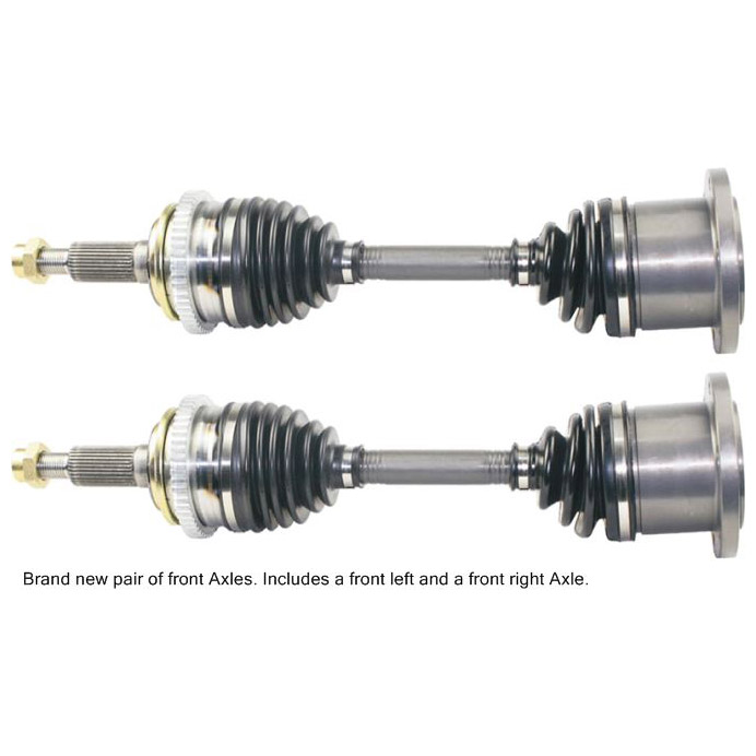 Truck Front Axle Assembly : Pair new front left right cv drive axle shaft assembly