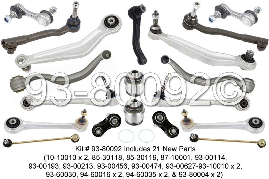bmw 540i m5 e39 suspension control arm repair kit front rear brand new