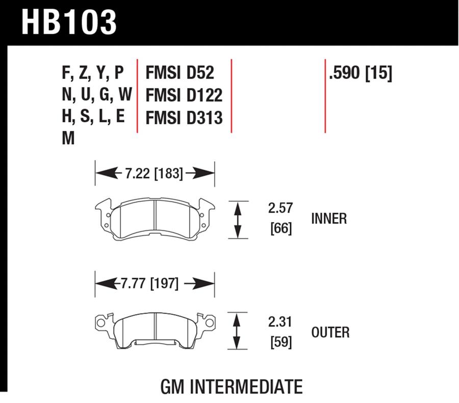 Chevrolet Caprice                        Brake Pad SetBrake Pad Set