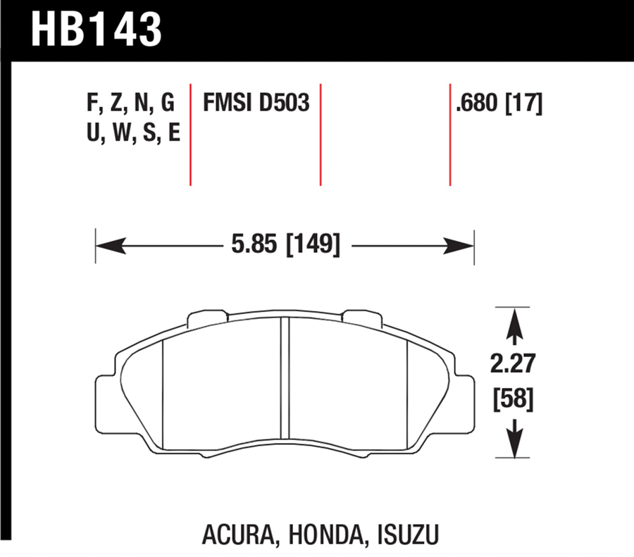 Acura CL                             Brake Pad SetBrake Pad Set