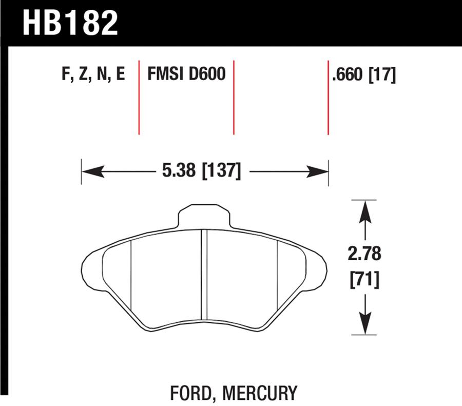 Ford Thunderbird                    Brake Pad SetBrake Pad Set