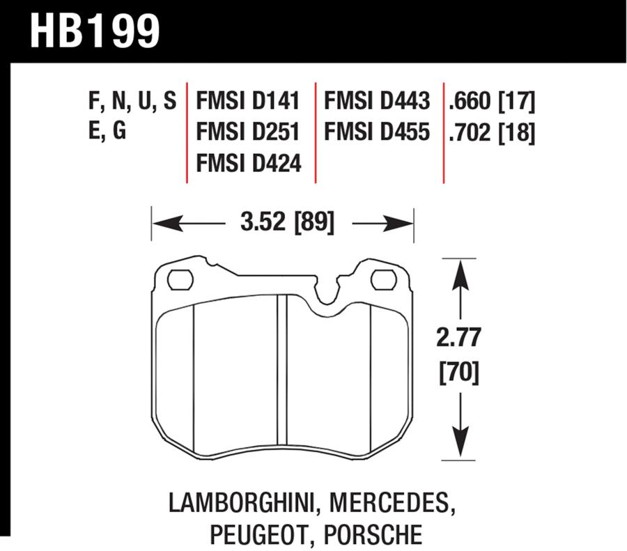 Peugeot 604                            Brake Pad Set