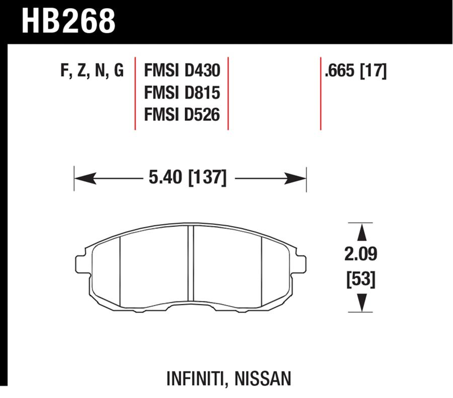 Nissan Cube                           Brake Pad SetBrake Pad Set