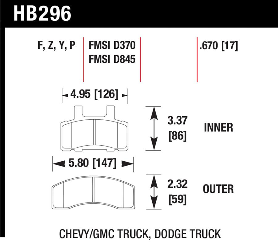 Chevrolet Express Van                    Brake Pad SetBrake Pad Set