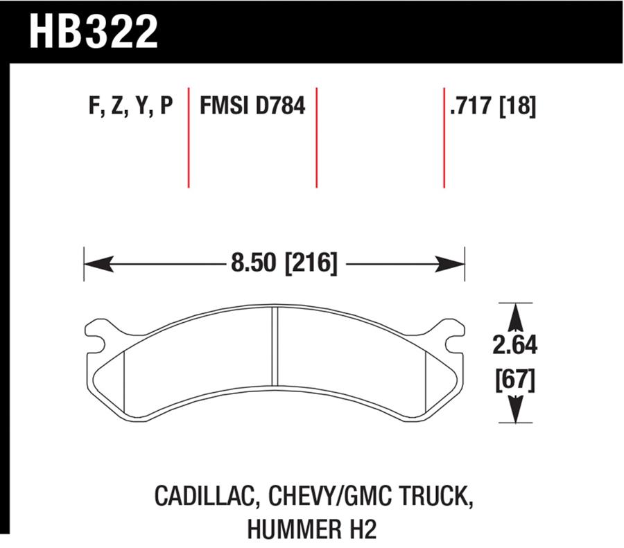Hummer H2                             Brake Pad SetBrake Pad Set