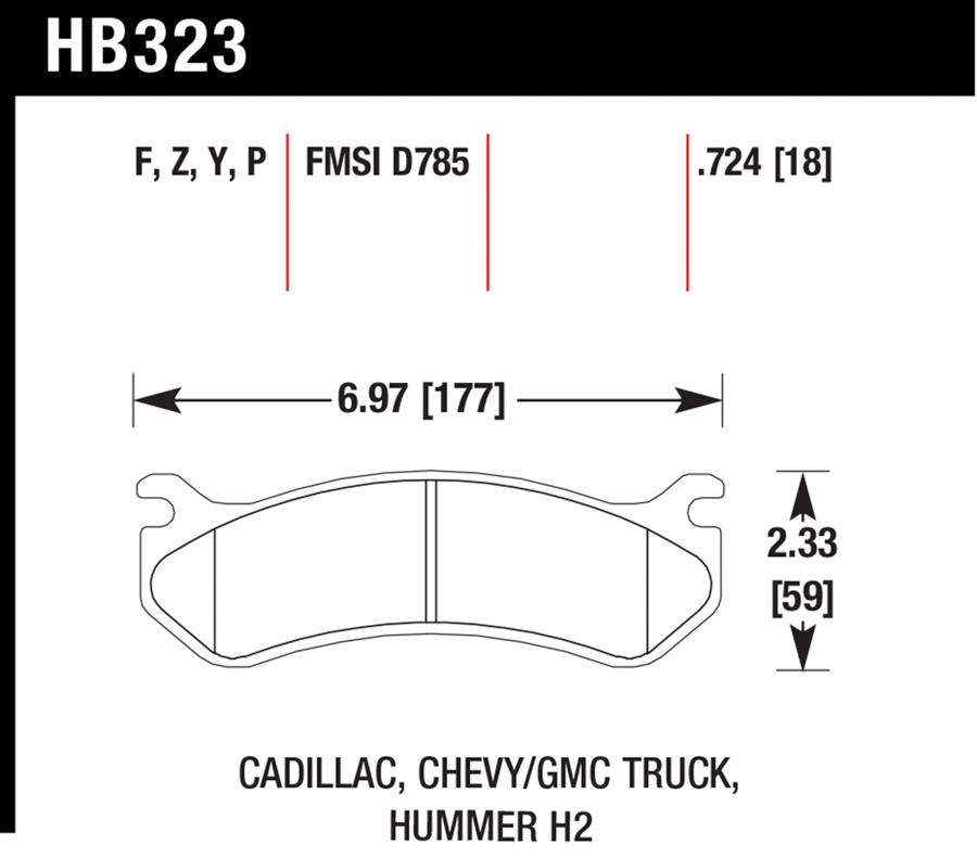 Chevrolet Silverado                      Brake Pad SetBrake Pad Set