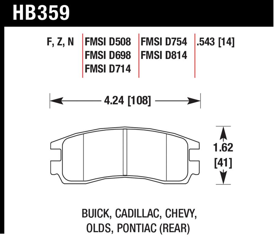 Chevrolet Malibu                         Brake Pad SetBrake Pad Set
