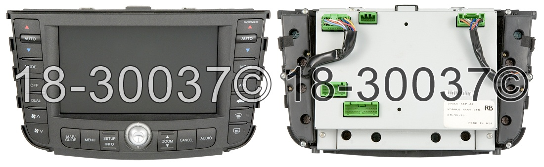 Acura TL                             Center Module ScreenCenter Module Screen