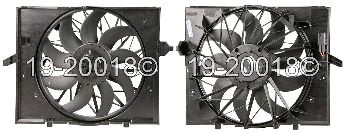 BMW 545                            Cooling Fan AssemblyCooling Fan Assembly