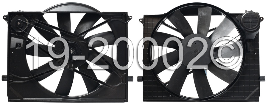 Mercedes_Benz S430                           Cooling Fan AssemblyCooling Fan Assembly