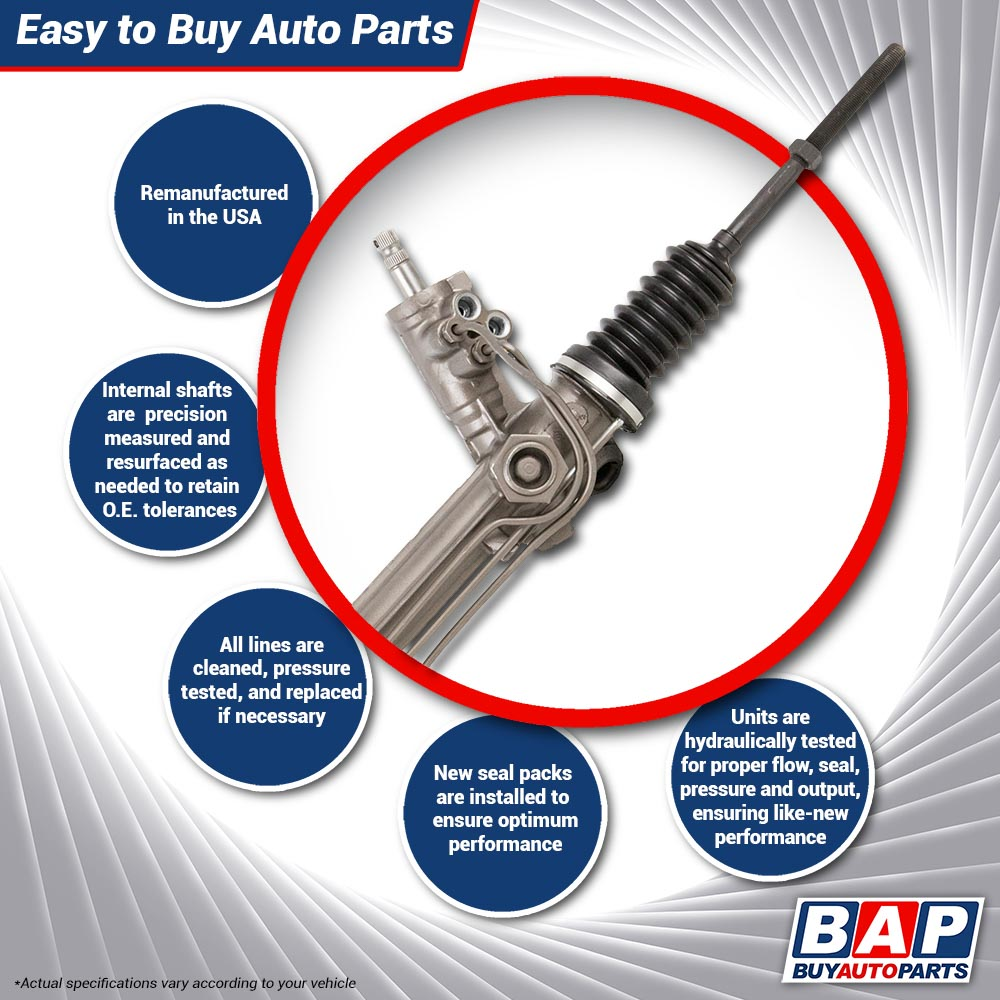 Remanufactured Oem Power Steering Rack And Pinion Assembly