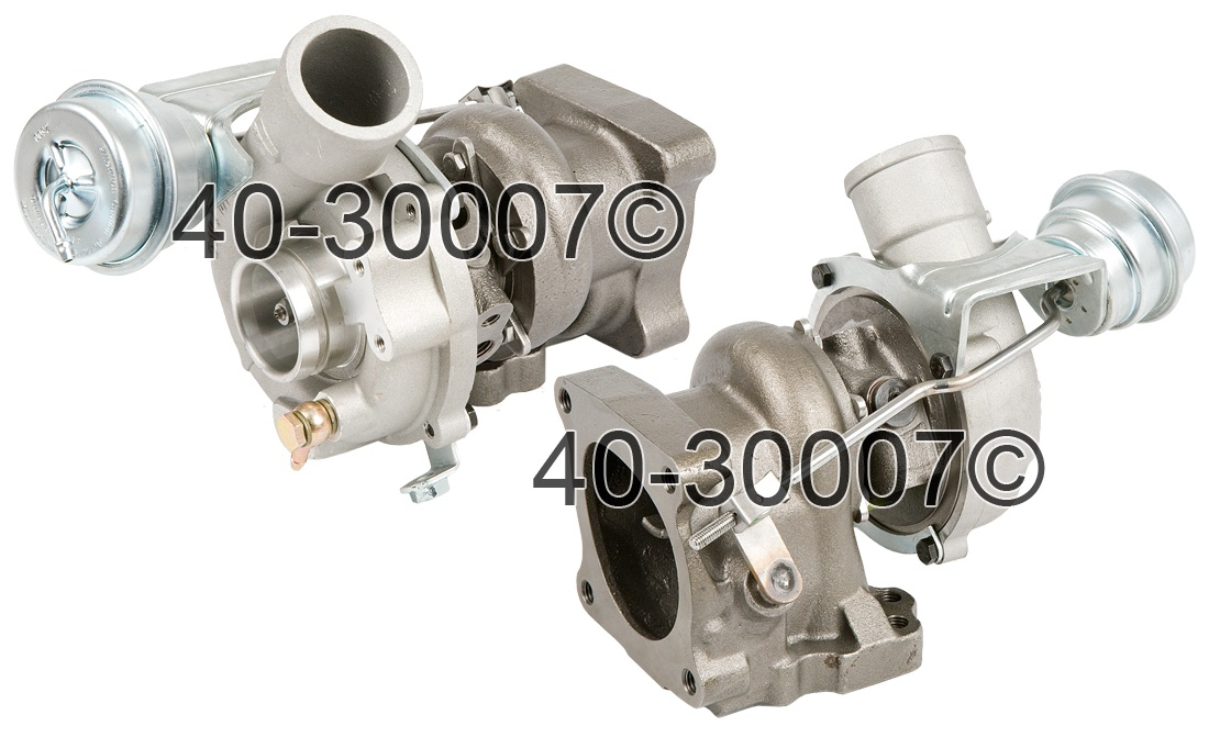 1999 Audi A6 2.7L Engine - Left Side Turbo Turbocharger