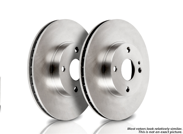 Mercedes_Benz 350SDL                         Brake Disc Rotor Set