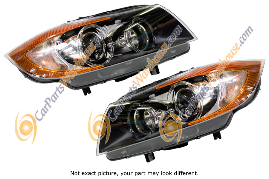 Mercedes_Benz 400E                           Headlight Assembly Pair