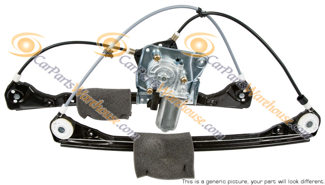 Volkswagen Golf                           Window Regulator Only