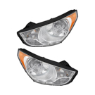 Hyundai Tucson                         Headlight Assembly Pair