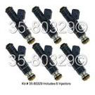 Saab Fuel Injector Set