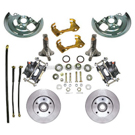 Wheel Kit Only [Spindles, Calipers, rotors, Brackets, rubber lines and dust shield]