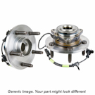 Pair of Rear Hubs without ABS and with Rear Drum Brakes