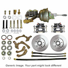 Complete Front Disc Kit [Front Discs, Loaded Calipers, Brackets, Hoses and Drop Spindles]